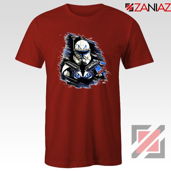Captain Rex Star Wars Red Tshirt