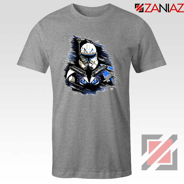 Captain Rex Star Wars Sport Grey Tshirt