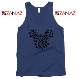 Cheetah Mickey Navy Blue Tank Top