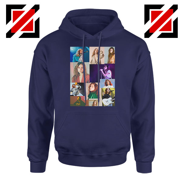 Clairo Collage Navy Blue Hoodie