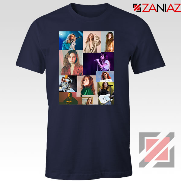 Clairo Collage Navy Blue Tshirt