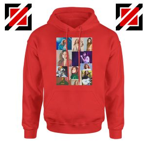Clairo Collage Red Hoodie