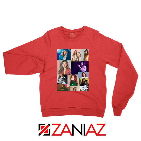 Clairo Collage Red Sweatshirt