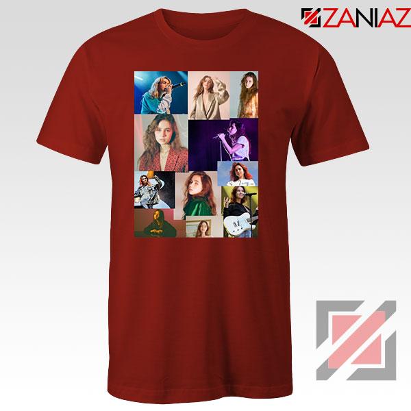 Clairo Collage Red Tshirt