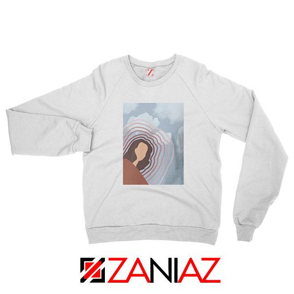 Clairo Singer Art White Sweatshirt