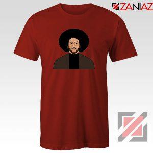 Colin Kaepernick Portrait Red Tshirt