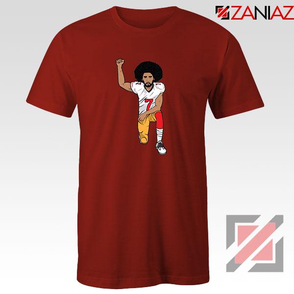 Colin kaepernick Kneeling Red Tshirt