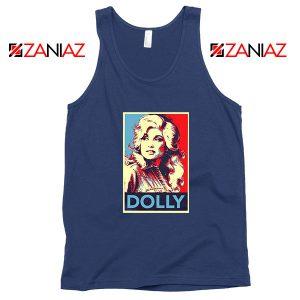 Dolly Parton Navy Blue Tank Top