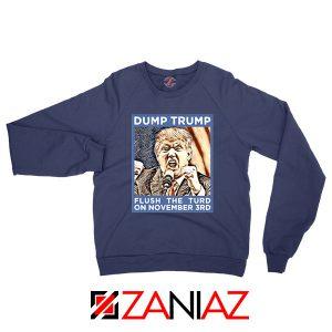 Dump Trump Navy Blue Sweatshirt