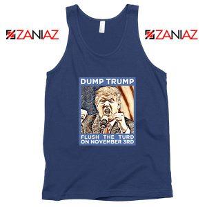 Dump Trump Navy Blue Tank Top