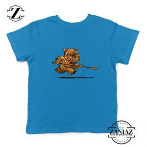 Ewok Species Kids Blue Tshirt