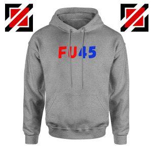 FU45 Anti Trump Sport Grey Hoodie