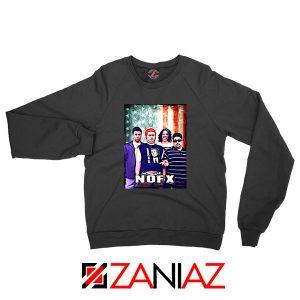 Flag America Nofx Black Sweatshirt