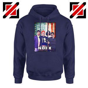 Flag America Nofx Navy Blue Hoodie