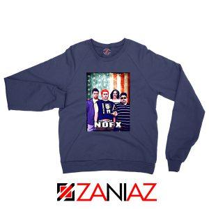 Flag America Nofx Navy Blue Sweatshirt