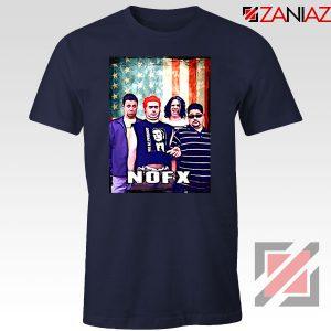 Flag America Nofx Navy Blue Tshirt