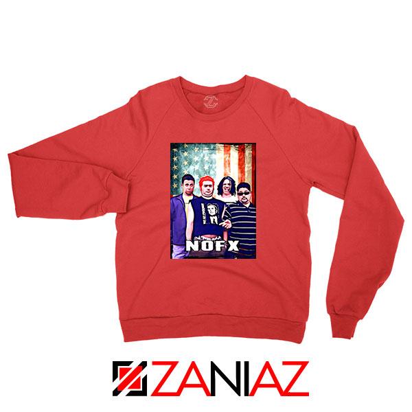 Flag America Nofx REd Sweatshirt