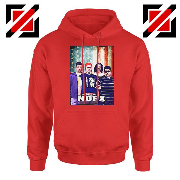 Flag America Nofx Red Hoodie