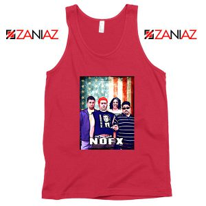 Flag America Nofx Red Tank Top