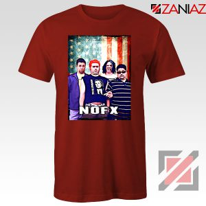 Flag America Nofx Red Tshirt