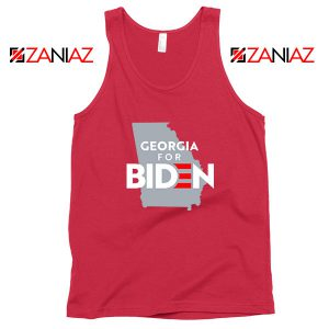 Georgia for Joe Biden Red Tank Top