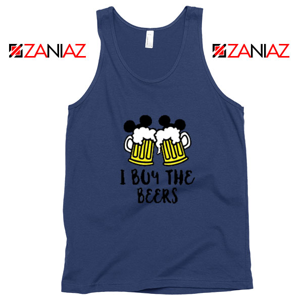 I Buy The Beers Navy Blue Tank Top