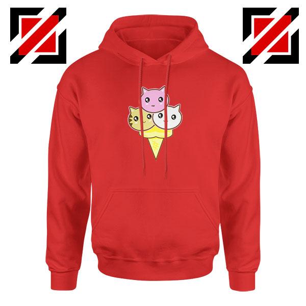 Ice Cream Kitties Red Hoodie