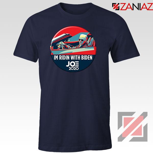Im Ridin With Biden Navy Blue Tshirt
