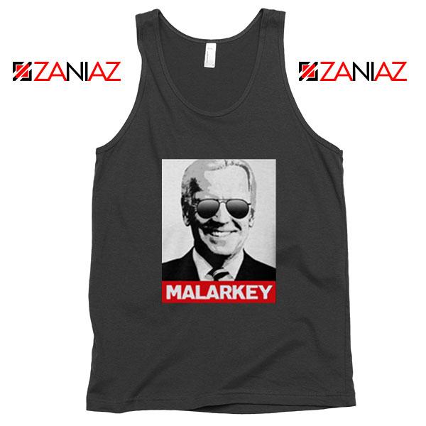 Joe Biden Malarkey Black Tank Top
