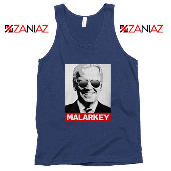 Joe Biden Malarkey Navy Blue Tank Top