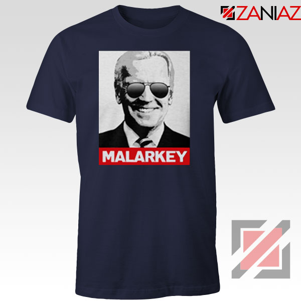 Joe Biden Malarkey Navy Blue Tshirt