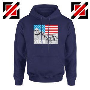 Mount Rushmore Trump Navy Blue Hoodie