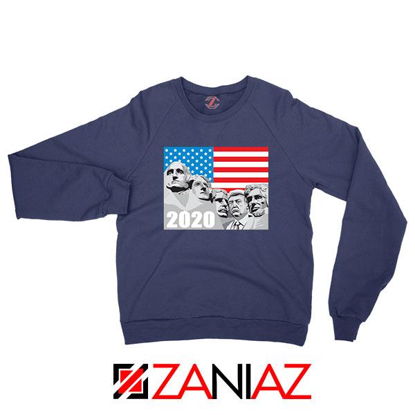 Mount Rushmore Trump Navy Blue Sweatshirt