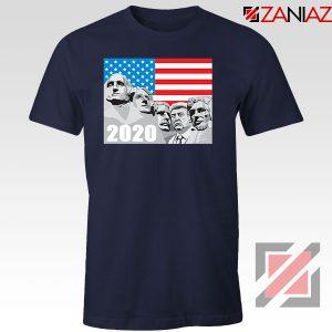 Mount Rushmore Trump Navy Blue Tshirt