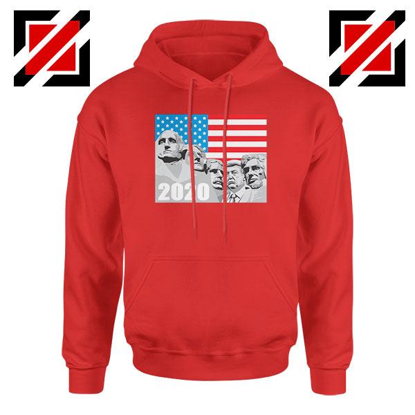 Mount Rushmore Trump Red Hoodie