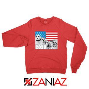 Mount Rushmore Trump Red Sweatshirt