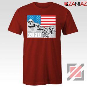 Mount Rushmore Trump Red Tshirt