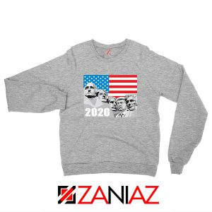Mount Rushmore Trump Sport Grey Sweatshirt