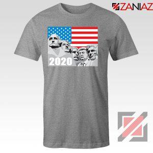 Mount Rushmore Trump Sport Grey Tshirt