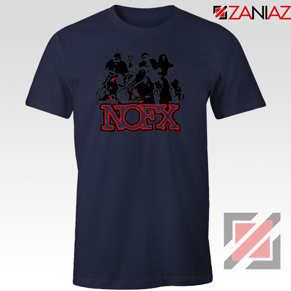 NOFX Rock Bands Navy Blue Tshirt