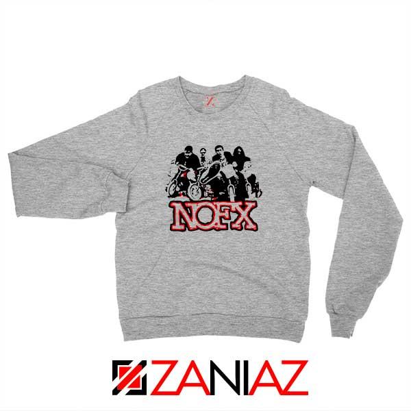 NOFX Rock Bands Sport Grey Sweatshirt