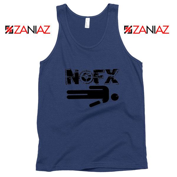 Nofx Band People Facemash Navy Blue Tank Top