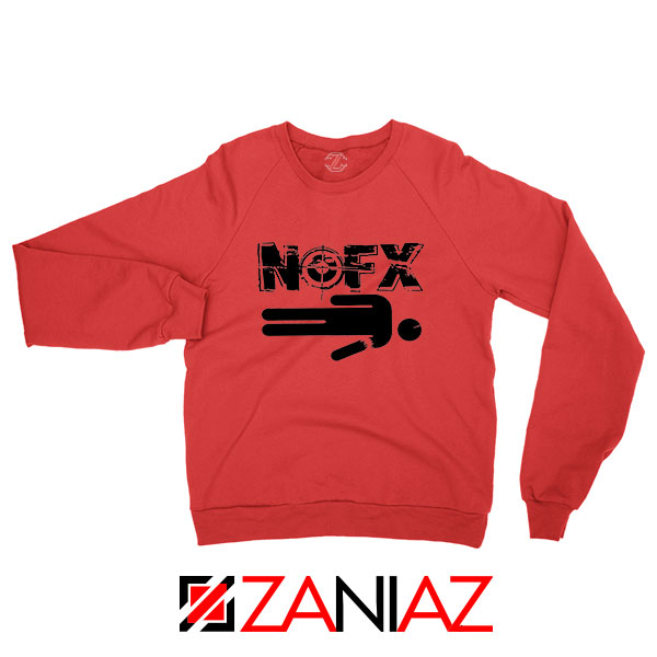 Nofx Band People Facemash Red Sweatshirt