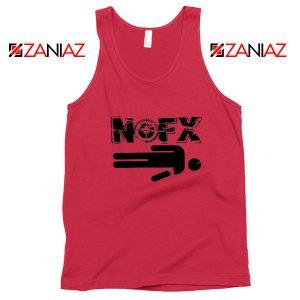 Nofx Band People Facemash Red Tank Top