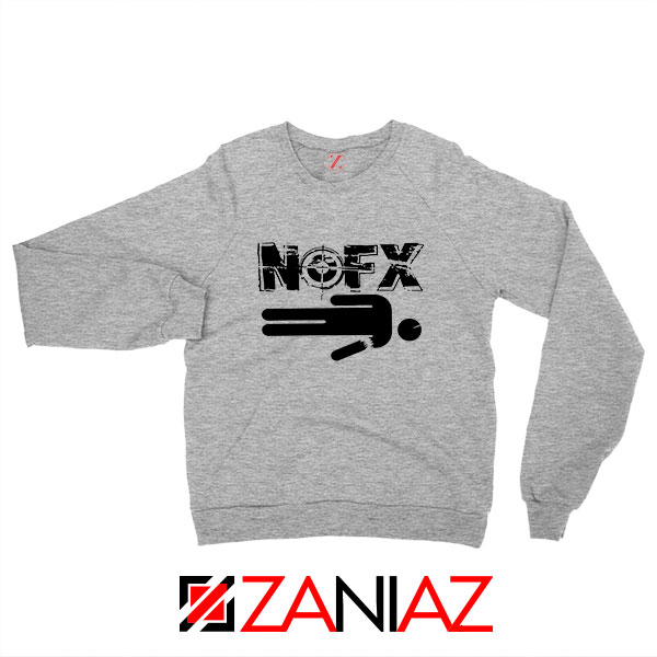 Nofx Band People Facemash Sport Grey Sweatshirt