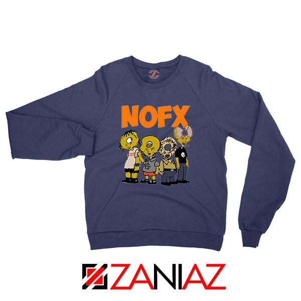 Nofx Scare Cartoon Navy Blue Sweatshirt