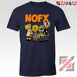 Nofx Scare Cartoon Navy Blue Tshirt