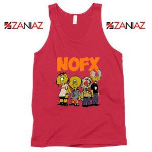 Nofx Scare Cartoon Red Tank Top