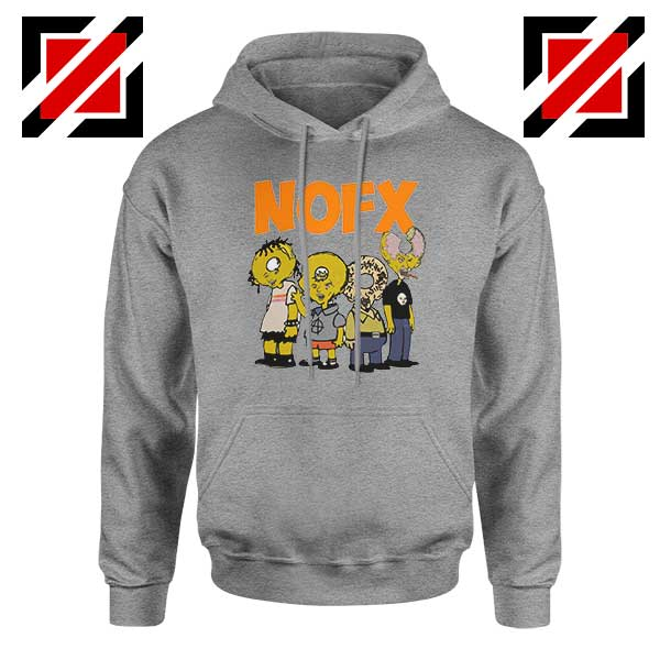 Nofx Scare Cartoon Sport Grey Hoodie