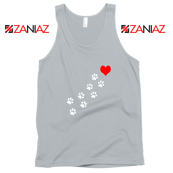 Paws Dogs Heart Sport Grey Tank Top